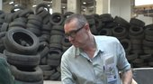 Thomas Hirschhorn with his installation Flamme Éternelle