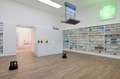Damien Hirst, Installation ofPharmacyat Tate Modern, 2012, Photo: Andrew Dunkley, Tate Photography