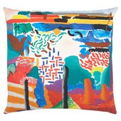 Hockney Canyon Painting cushion cover