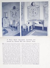 Architectural Review of the decoration of the Music Room at the Lefevre Galleries by Duncan Grant and Vanessa Bell © Reproduced courtesy of The Architectural Review