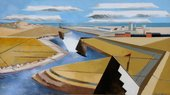 Paul Nash, The Rye Marshes 1932, Oil on canvas, object: 588 x 1003 mm, painting, Ferens Art Gallery (Hull, UK) Paul Nash © Tate