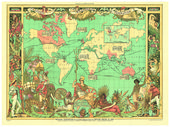 Walter Crane, Imperial Federation Map, 1886