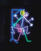 A neon of the game 'Hangman'