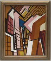 Wyndham Lewis Workshop c.1914-5 Tate Purchased 1974 © Wyndham Lewis and the estate of Mrs G A Wyndham Lewis by kind permission of the Wyndham Lewis Memorial Trust (a registered charity)