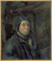 A painted portrait of a man