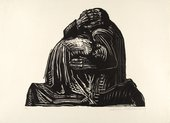 Kathe Kollwitz The Parents (War portfolio, plate 3) 1921-22 Private Collection
