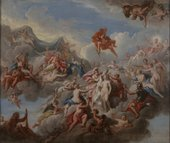 Louis Laguerre The Creation of Pandora(design for the staircase ceiling at Petworth House) 1702 Victoria and Albert Museum, London