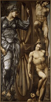 Sir Edward Coley Burne-Jones, Bt. The Wheel of Fortune 1883