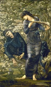 Sir Edward Coley Burne-Jones, Bt. The Beguiling of Merlin 1872-77