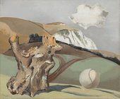 Paul Nash, Events on the Downs, 1934, Oil on canvas, Governement Art Collection (GAC), Paul Nash © Tate Photo: © UK Government Art Collection