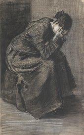 Vincent van GoghWoman Sitting on a Basket with Head in Hands1883 Kröller-Müller Museum (Otterlo, The Netherlands)