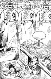 Boris Efimov, 'British Military Expert Repington is Trying to Define the Exact Size of the Red Army', in Boris Efimov, Karikatury (Cartoons), Moscow 1924, p.7.
