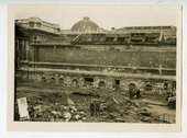 Photograph showing damage to the Gallery in the war