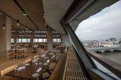 empty restaurant view