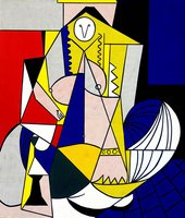 Femme d'Alger 1963 Oil on canvas The Eli and Edythe L. Broad Cllection, Los Angeles © Estate of Roy Lichtenstein/DACS 2012
