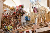 Phyllida Barlow dock installation - view of the North Duveen gallery