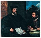 Titian Georges dArmagnac Bishop of Rodi with his secretary Guillaume Philandrier circa 1536