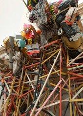 Phyllida Barlow untitled: dock: 5stockadecrates 2014 (detail)