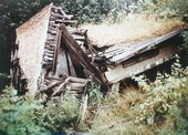Lost Art: Robert Smithson's Partially Buried Woodshed, as seen in 1982