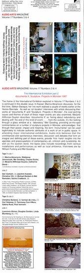 Audio Arts Volume 17 No 3 & 4 inlay 1