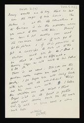 a written letter from Bear [Duncan Grant] to Vanessa Bell