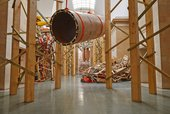 Phyllida Barlow untitled: dock: hungcontainer 2014