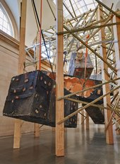 Details of Phyllida Barlow untitled: dock: 5hungblocks 2013