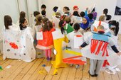 Workshops with Columbia Road Primary School, Year 3, Whitechapel Gallery, 2015