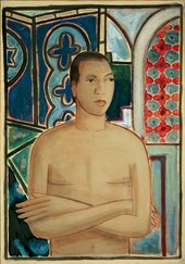 Image of Wifredo Lam's painting Self-Portrait, II 1938