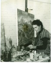 Kati Horna, Leonora Carrington at her Easel, Mexico