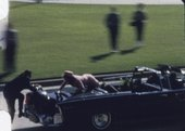 Abraham Zapruder still of JFK assassination in Dallas