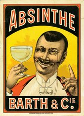 Advertising sign for Absinthe Barth et Cie