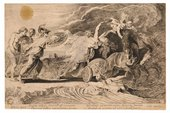 After Peter Paul Rubens The Rape of Proserpine engraved by Pieter Soutman, published c.1620–5