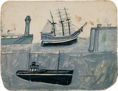 Alfred Wallis Fishing boat with mast steeped