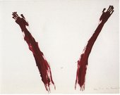 Ana Mendieta Body Tracks (Rastros Corporales) 1982 04