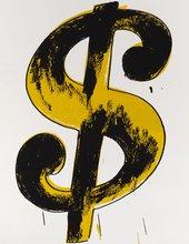Andy Warhol Dollar Sign 1982