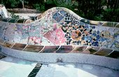 Antoni Gaudi Benches in Parque Guell Barcelona 1900 to 1914