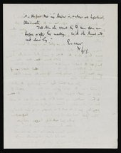 Letter from Walter Sickert to Nan Hudson page 3