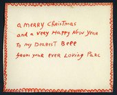 Christmas card from Cecil Collins to Elizabeth Collins Tate Archive