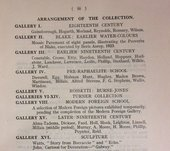 Key to plan of the Tate Gallery in 1924