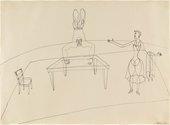 Alexander Calder, Untitled, 1932, drawing of circus