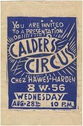 Alexander Calder, Cirque Calder invitation, 1929