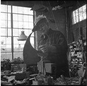 Calder's Studio, Herbert Matter, 1947