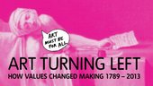 Art Turning Left web banner for Tate Liverpool exhibition
