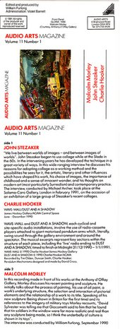 Audio Arts Volume 11 No 1 Inlay 1