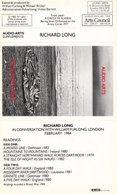 Audio Arts supplement Richard Long cassette inlay