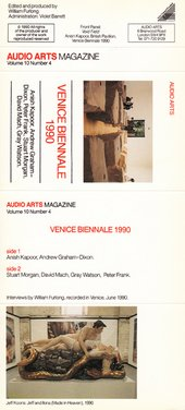 Audio Arts Volume 10 No 4 cassette Inlay