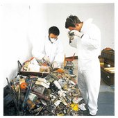 Lost Art: Francis Bacon - Employees of Dublin's Hugh Lane Gallery inspect the Francis Bacon studio materials