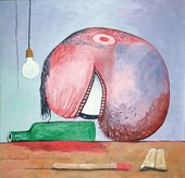 Philip Guston Bottle and Head 1975