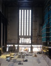 Construction work being carried out on Bankside Power Station, 1999